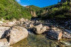 Canyon in the Alaska Range Royalty Free Stock Photo