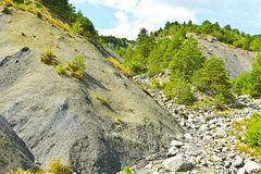 Canyon in Alps. Canyon in the French Alps Royalty Free Stock Images