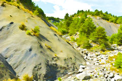 Canyon in Alps. Canyon in the French Alps, Stylized Photo Stock Images