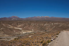 Canyon in the Altiplano Stock Photo