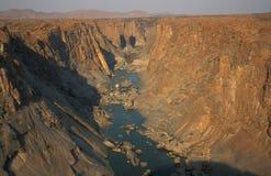 Canyon arancione del fiume Fotografie Stock