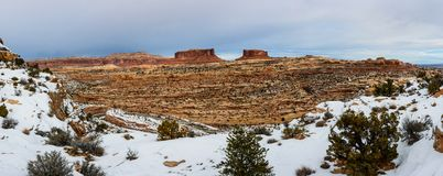 Winter canyon in Arizona. Canyon in Arizona with snow on the foreground Stock Image