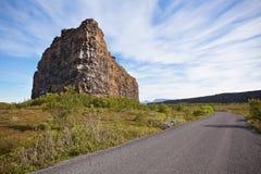 Canyon Asbyrgi, Islande Photographie stock libre de droits