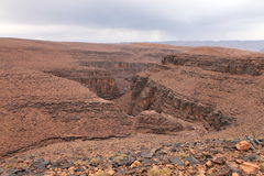 Canyon in Atlas Mountains Royalty Free Stock Images