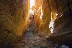 Canyon Avakas with a hanging stone Stock Image