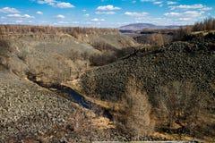 Canyon avec de la lave congelée Photo libre de droits