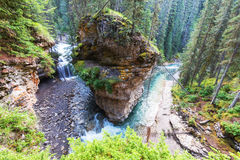 Canyon in Banff NP. Johnston Canyon in Banff NP, Canada stock photography