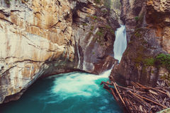 Canyon in Banff NP. Johnston Canyon in Banff NP, Canada stock images