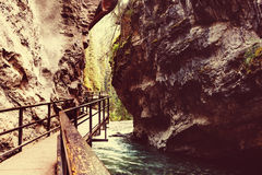 Canyon in Banff NP. Johnston Canyon in Banff NP, Canada royalty free stock photos
