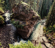 Canyon in Banff NP. Johnston Canyon in Banff NP, Canada royalty free stock photography