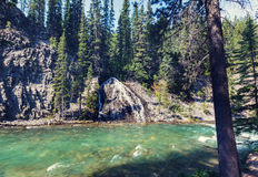 Canyon in Banff NP. Johnston Canyon in Banff NP, Canada royalty free stock photo