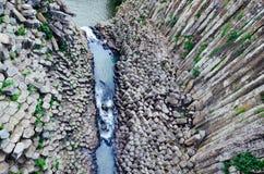 Canyon basaltico dei prismi di Santa Maria Regla, Huasca de Ocampo, Messico 16 maggio Immagini Stock Libere da Diritti
