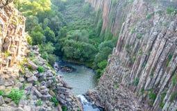 Canyon basaltico dei prismi di Santa Maria Regla, Huasca de Ocampo, Messico 16 maggio fotografie stock
