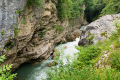 Canyon of Belaya River Royalty Free Stock Photography