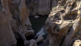 The canyon below Bourke`s Luck pot holes bridge