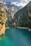 Canyon ben noto Verdon Fotografie Stock Libere da Diritti