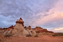 Canyon bleu, section de lavage de Moenkopi en Arizona du nord-est Photographie stock