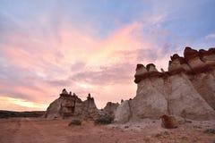 Canyon bleu, section de lavage de Moenkopi en Arizona du nord-est Image libre de droits