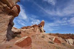 Canyon blu, sezione del lavaggio di Moenkopi in Arizona di nordest Fotografie Stock