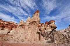Canyon blu, sezione del lavaggio di Moenkopi in Arizona di nordest Immagine Stock