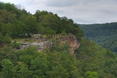 Canyon Bluff. Little River Canyon overlook in Northeast Alabama Royalty Free Stock Photos