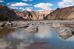 Canyon boulders Stock Images
