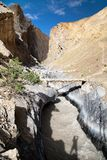 Canyon with bridge and - view from Zanskar trek - Ladakh - India Stock Photography