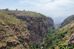 Canyon in burundi. East africa Royalty Free Stock Image