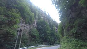 Canyon by car stock video footage