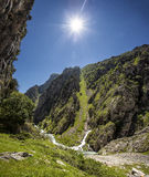 Canyon. Cares canyon, Picos de Europa Natural Park, Asturias, Spain Royalty Free Stock Images