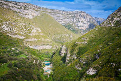 The canyon of Cavagrande Stock Images