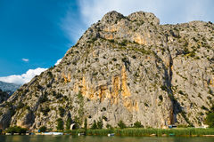 Canyon of Cetina Mountain River near Omis Stock Image