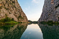Canyon of Cetina River near Omis. Croatia stock images