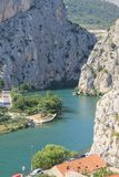 The canyon of the Cetina river in omiš, Croatia royalty free stock photos