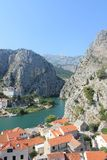 The canyon of the Cetina river in omiš, Croatia royalty free stock photography