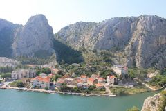 The canyon of the Cetina river in omiš, Croatia stock image