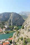 The canyon of the Cetina river in omiš, Croatia stock photos