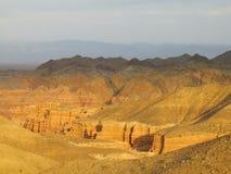 Canyon Charyn (Sharyn) al tramonto Immagine Stock Libera da Diritti