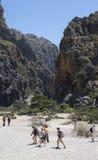 Canyon and coast Sa Calobra ,Spain Royalty Free Stock Photos