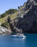 Canyon and coast Sa Calobra ,Spain Royalty Free Stock Photo