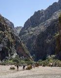 Canyon and coast Sa Calobra ,Spain Stock Photography