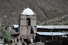 Canyon Colca , Peru. Church in village Malata in canyon Colca in southern Peru Royalty Free Stock Photography