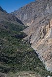 Canyon Colca in Peru. Canyon and river Colca in southern Peru Stock Photography