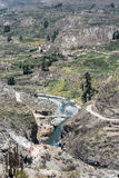 Canyon of the Colca River in southern Peru Stock Photo