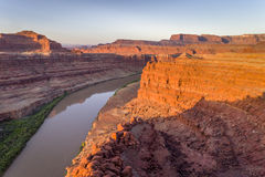 Canyon of Colorado River - sunrise aerial view Royalty Free Stock Photography