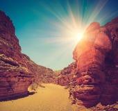 Canyon colorato dell'Egitto Nuweiba Sinai del sud fotografia stock