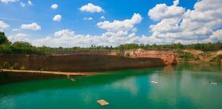 Canyon con i cloudys Fotografie Stock Libere da Diritti