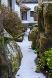 Canyon congelé dans le jardin asiatique Photo stock
