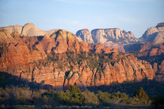 Canyon country of Zion National Park, Utah Royalty Free Stock Photo