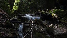 Canyon in Cutkovska dolina, Ruzomberok, Slovakia. Small 60 meters long canyon decorated with water cascade ending Cutkovska dolina valley in Velka Fatra national royalty free stock image